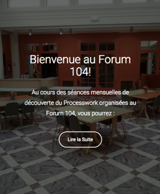 Bienvenue au Forum 104!