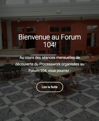 Bienvenue au Forum 104!